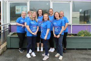 Shaftesbury Nursey School Staff in MNDA t-shirts